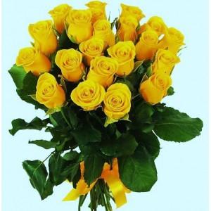 Букет из 21 желтой розы