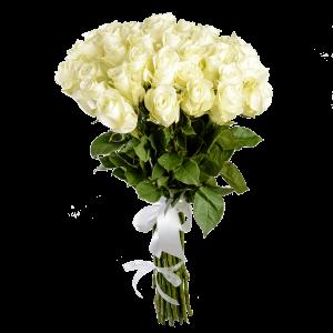 Букет из 37 белых роз (80 см)