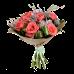 Букет из 17 роз разного цвета в крафт бумаге