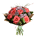 Букет из 9 роз (60 см), альстермерии и зелени