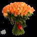 Букет из 75 оранжевых роз