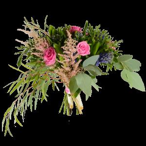 Букет из роз, гиацинта и зелени