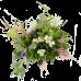 Букет из гиацинтов, альстермерии, статицы и зелени