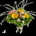 Букет из гербер, хризантем, альстермерии и зелени