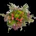 Букет из хризантем, альстермерии и зелени