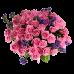 Букет из 51 розы, статицы и бавардии