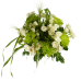 Букет из кустовой розы с хризантемой