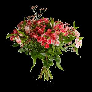 Букет из кустовой розы с альстермерией