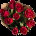 Букет из 9 красных роз и крафт-бумаги