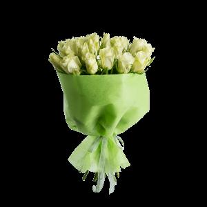 Букет из 25 белых роз в оформлении