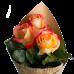 Букет из 3 роз в крафт-бумаге (70 см)