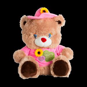 Мишка в розовой шляпе