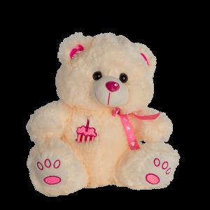 Мишка с розовой ленточкой