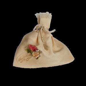 Мешочек для подарка с розами (поздравляю)