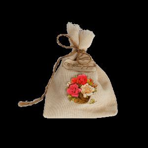 Мешочек для подарка с розами (с днем рождения)