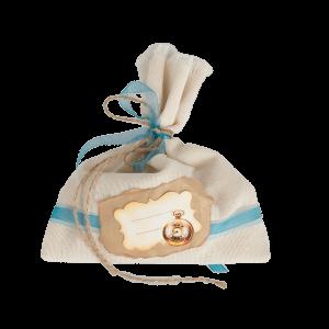 Мешочек для подарка с голубой ленточкой