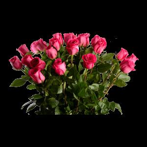 Букет из 25 розовых роз (90 см)