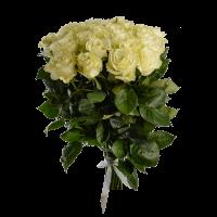 Букет из 25 белых роз (90 см)
