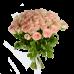 Букет из 51 розовой розы с атласной лентой