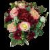 Розы розово-персикового цвета в коробочке