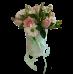 Роза, хризантема и зелень в коробочке