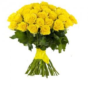 Букет из 35 желтых роз (60см)