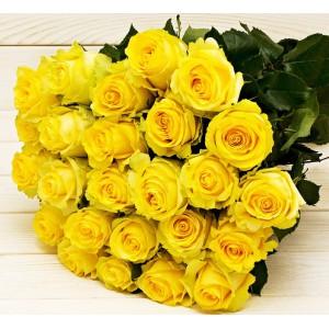 Букет из 51 желтой розы (50см)